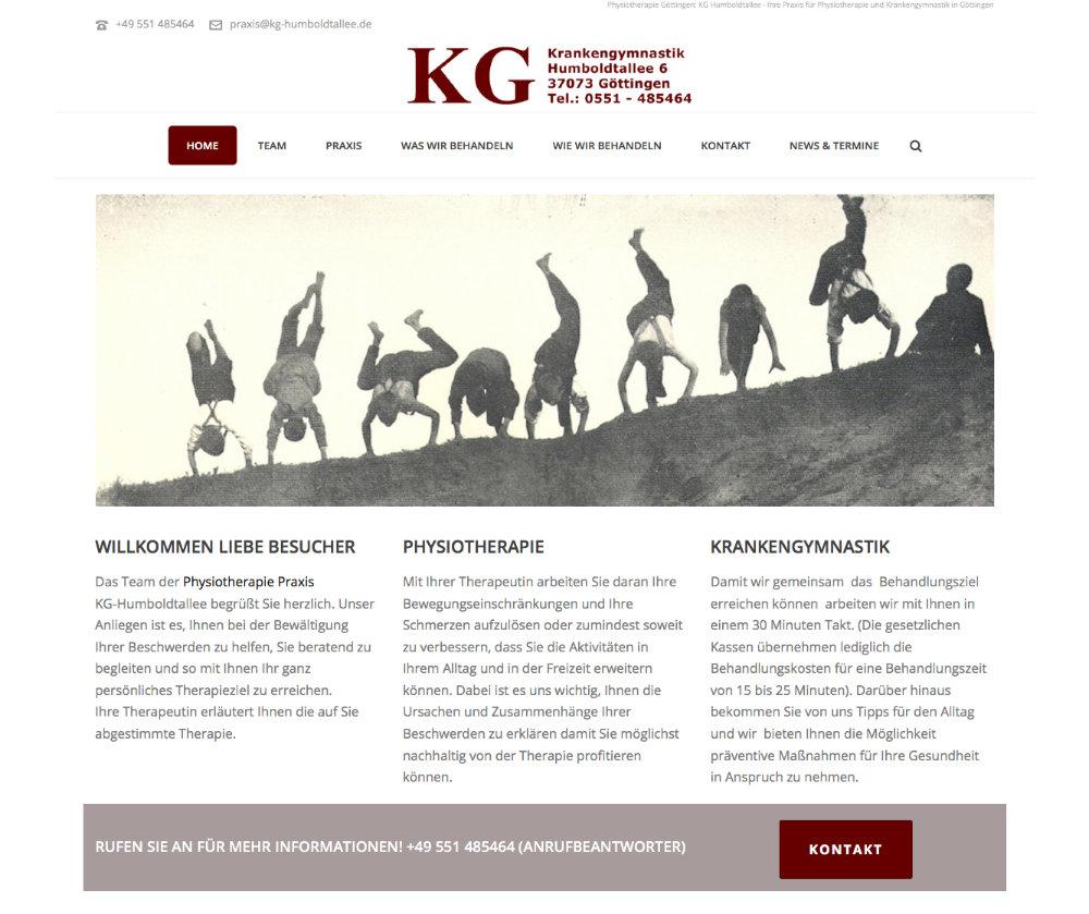 KG Humboldtallee – Physiotherapiepraxis in Göttingen