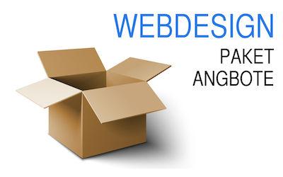 Webdesign Angebote als Pakete