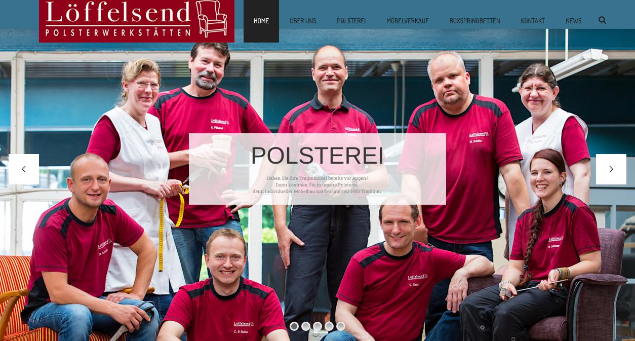 Homepage der Polsterei Löffelsend in Buchholz