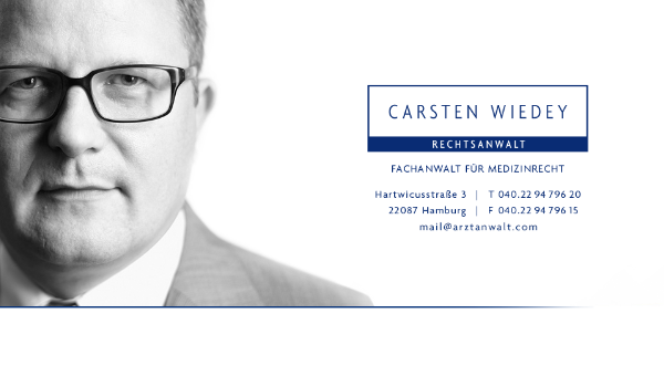 Carsten Wiedey, Anwalt für Medizinrecht