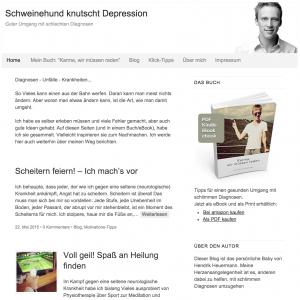 Schweinehund knutscht Depression – Guter Umgang mit schlechten Diagnosen