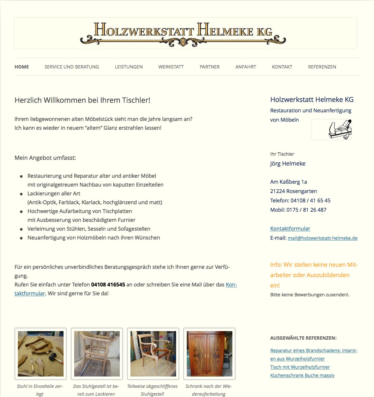 centraweb referenz holzwerkstatt helmeke webdesign homepage und seo aus hamburg. Black Bedroom Furniture Sets. Home Design Ideas