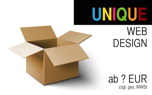 Webdesign UNIQUE: Wir bauen Ihre individuelle und unverwechselbare Homepage.