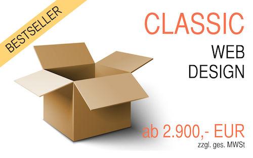 Webdesign Angebot CLASSIC Paket unser Bestseller für eine professionelle Basis-Homepage
