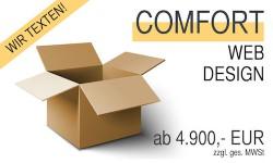 Webdesign: Das COMFORT-Paket ist vielleicht die richtige Wahl für Sie. Hier erstellen wir die Texte für Ihre Homepage.