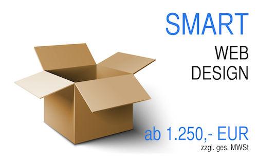 Webdesign Angebot Smart Paket für alle die schnell ins WWW starten wollen