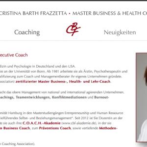 Webdesign für CBF Personal Business Coach - Dr. Cristina Barth Frazzetta