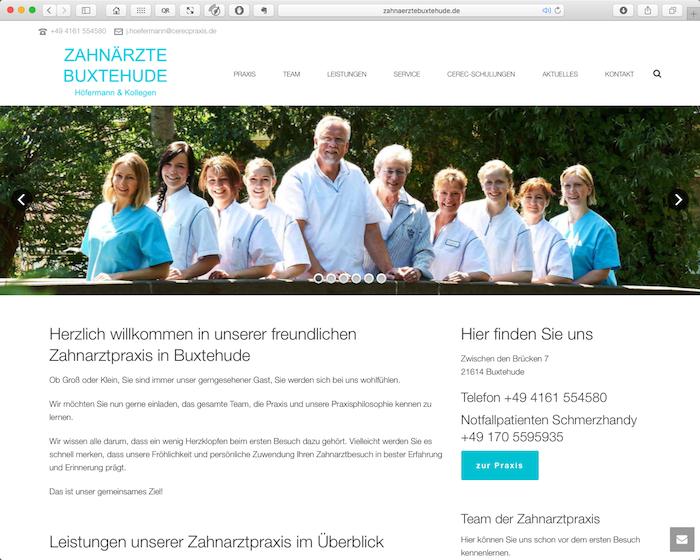 Webdesign für die Zahnärzte in Buxtehude: Höfermann und Partner