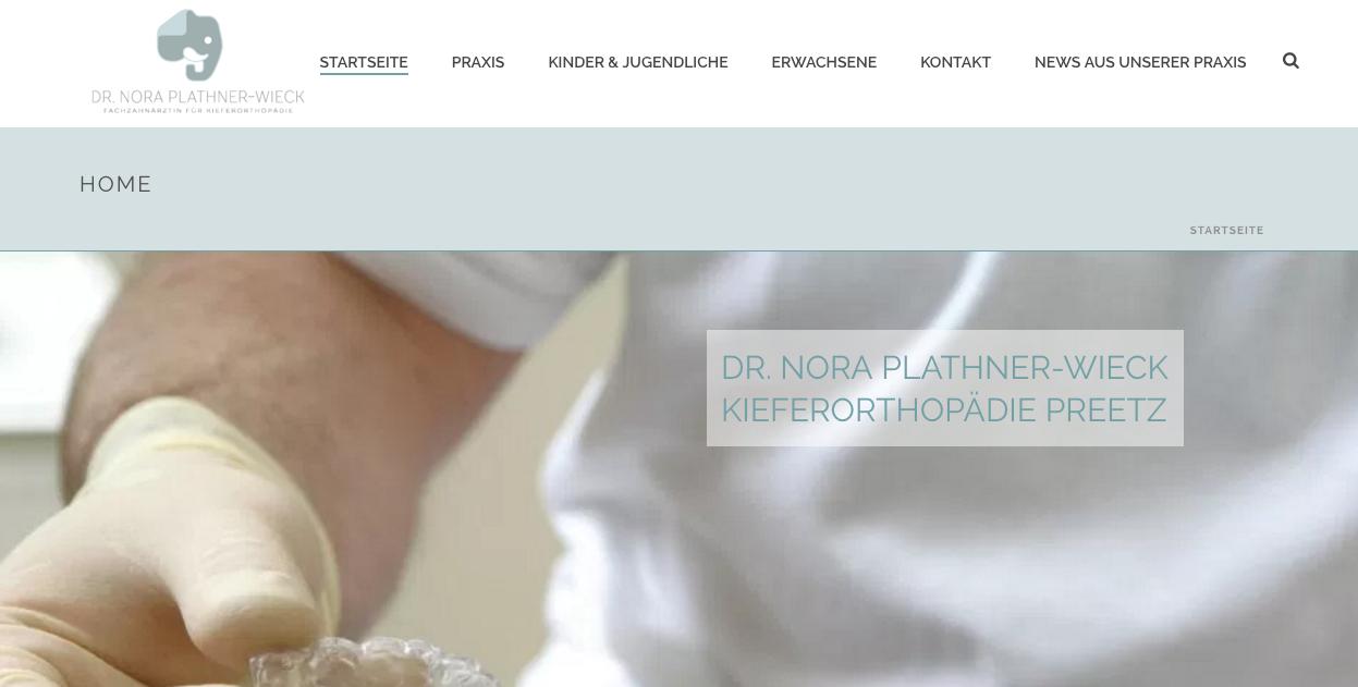 Kieferorthopädin Dr. Nora Plathner-Wieck in Preetz